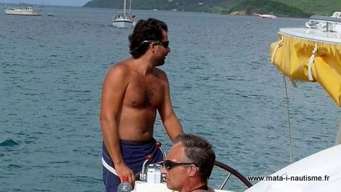 Manœuvre en catamaran