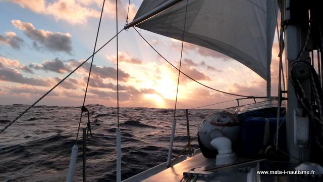 Coucher de soleil dans l'Atlantique