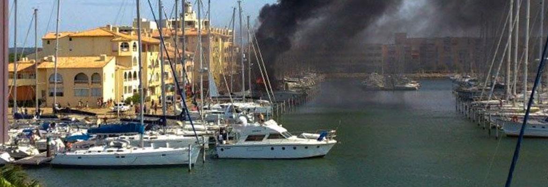 Incendie port de plaisance
