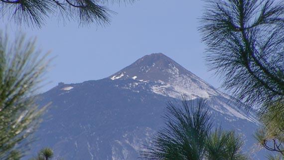 Neige sur le volcan Teide
