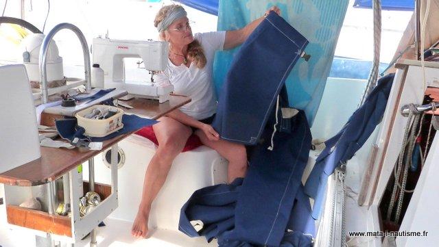 Fabrication nouveau lazy bag voilier