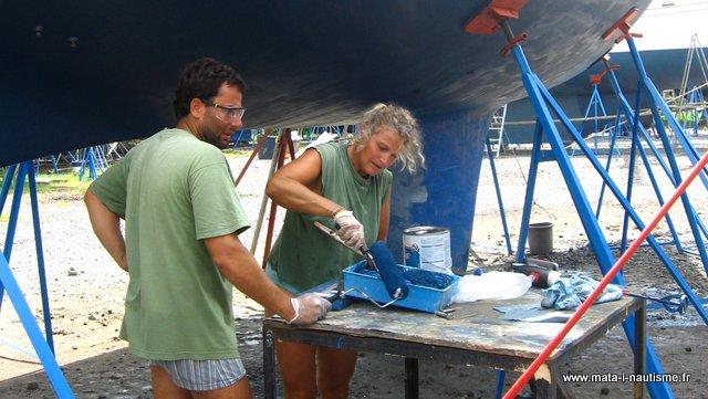 Peinture antifouling voilier