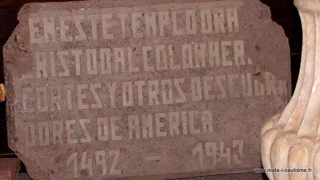 Christophe Colomb est passé par là