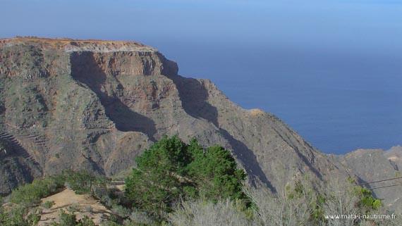 Les falaises de La Gomera