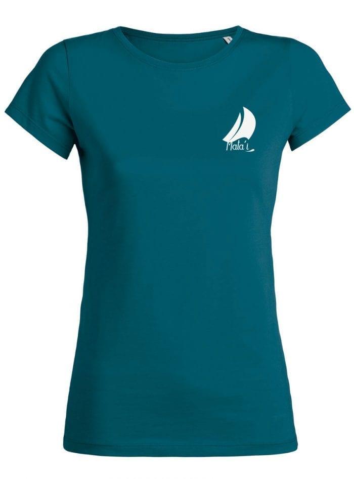 Tshirt Femme bleu canard Face