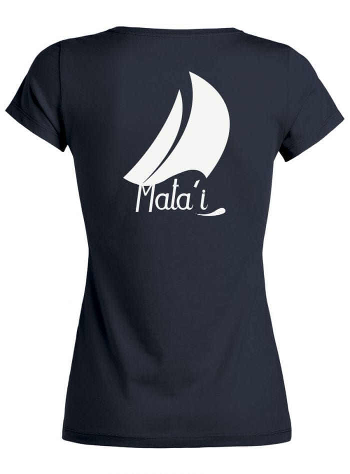 Tshirt Femme bleu marine Dos