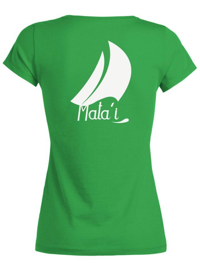 Tshirt Femme vert Dos