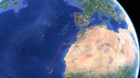 Route vers le Cap Vert