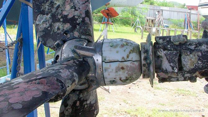 Hélice Kiwiprop cassée