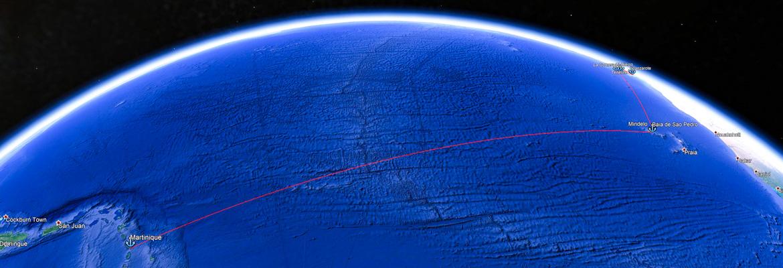 Transatlantique en voilier