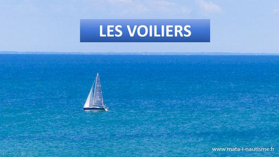 Les voiliers - Définitions et types