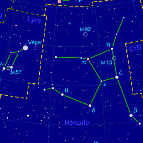 Constellation Hercule et Lyre