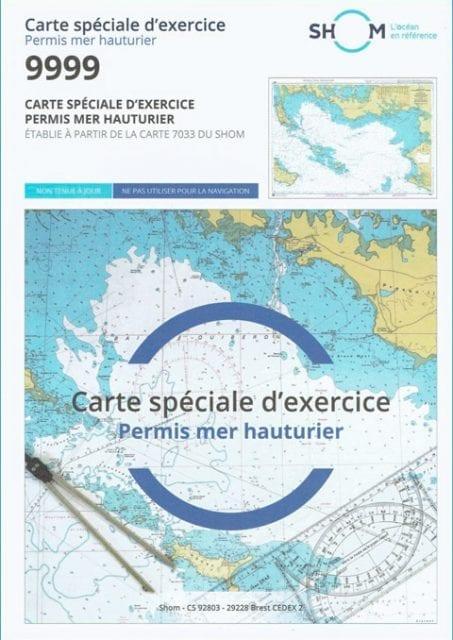 Carte Marine Permis Hauturier SHOM 9999