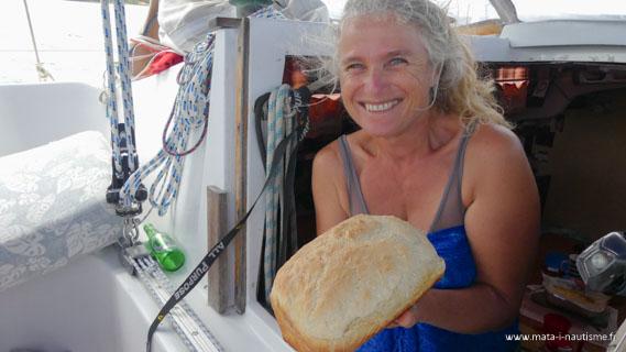 Faire du pain à bord d'un voilier