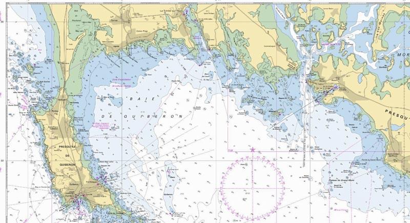 Carte Marine Quiberon