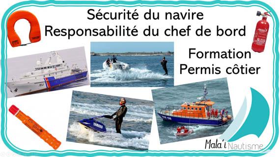 Sécurité Responsabilité du chef de bord - permis côtier