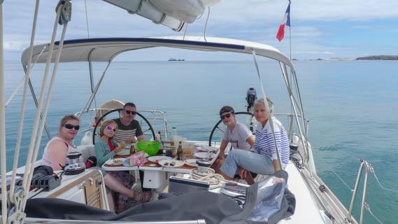 Avec Anne Quentin Louise et Baptiste