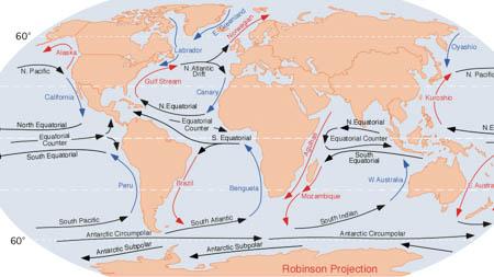 generalités sur le climat et les courants océaniques