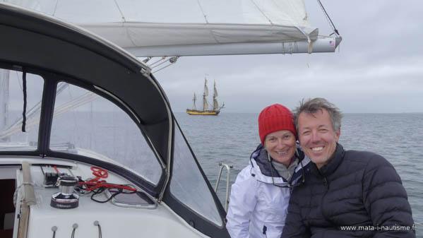 Béatrice et Pascal Stage de voile Bretagne